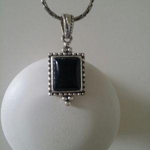 Black jewel necklace